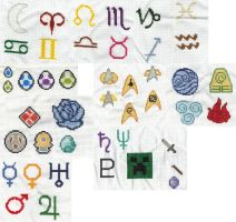 An assortment of cross stitch by purenightshade