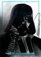 Vader Sketch Card by RandySiplon
