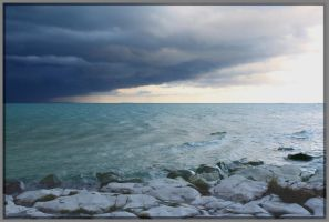 Storm Over Water by Rebacan