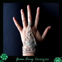 """Elegant Swan"" modelled by green-envy-designs"
