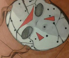 jason's shattered mask by Walwa