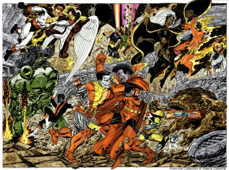 x men vs imperial guard by byrne by namorsubmariner