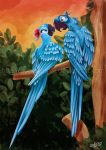 Lovebirds by Queen-Uriel