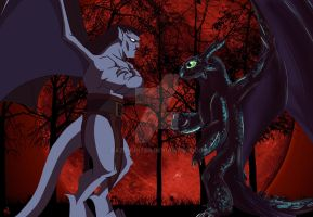 Goliath and Toothless 3d by bazzhunter