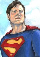 Christopher Reeve Superman by AshleighPopplewell