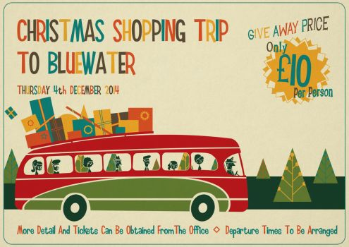 Christmas Shopping Trip Poster by KymeraKirsty