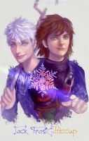Hiccup&jackfrost (1) by Maxineisreallydead