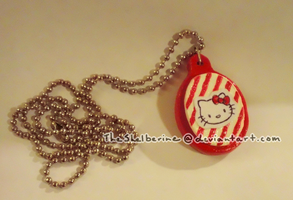 Homemade Hello Kitty necklace by TheShelberine