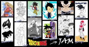 DRAGON BALL SUPER JAM by eL-HiNO