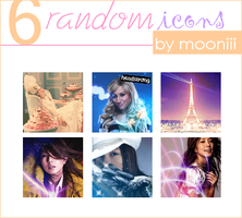 6 random icon set by Mooniii