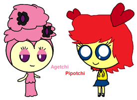 Agetchi and Pipotchi by CaffrinLuvsDHMIS