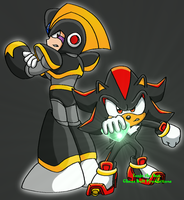 MegaMan-Sonic: Bass and Shadow by TanjatheBat