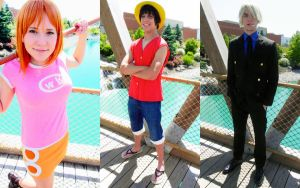 One Piece Straw Hat Pirates cosplay by CrimsonVip3r