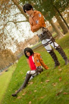 Eren and Mikasa by ArtemisBerry