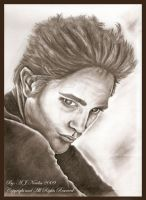 Robert Pattinson in Charcoal by AmedaN