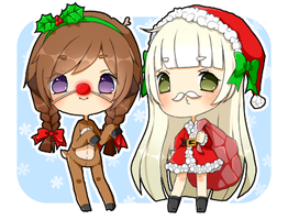 shiam as santa and rudolph. by markeu