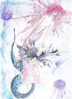 Dancing with jellyfish by HiiroChi