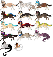 Wolf Adoptables Set 2 OPEN EDIT by Cali-Adopts