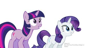 Twilight and Rarity WIP by Jrenon