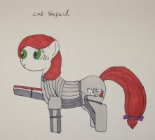 Commander Shepard Pony by IronBrony