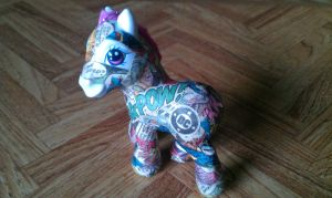 DC Comics Pony 'Superman' WIP - Front by Hucklebunny