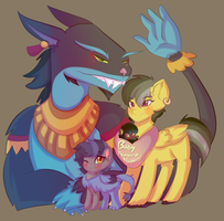 Daringzotl family by karsisMF97