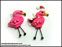 Christmas Flamingos by GrandmaThunderpants