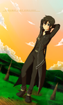 Sword art online, Kirito+speedpaint by Yechii