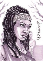 TWD Michonne ACEO by micQuestion