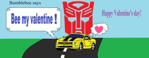 Transformers Bumblebee Valentine's day card by Barricade9-1-1
