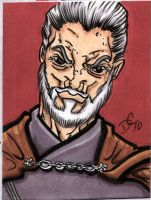 Count Dooku Sketch Card by The-Standard