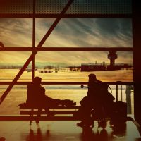 Airport Family Silhouette by stefffoto