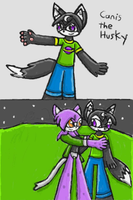 Canis And Luna :Secret Halloween Gift: by SurgeCraft