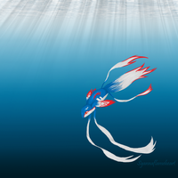 Kyogre Fish by SyannaFlameHeart