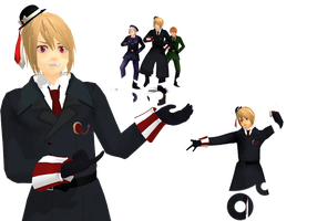 MMD Newcommer - APH Romania [Videos] by Nodiel-71