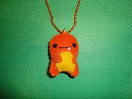 chibi charmander necklace by Plushieland