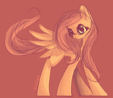 Fluttershy Speed Paint by jubilannt