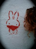 Bunny Graffiti by VeganInFurs