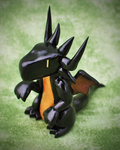 FF7 Bahamut figurine by HowManyDragons