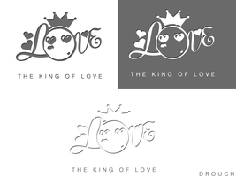 LOGO the king of love by drouch