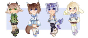 AUCTION :: Hello Random Adopts [ CLOSED ] by SireFluffButt