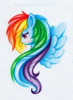 Watercolor Rainbow Dash by danniichan