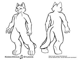 Digitigrade Small Feline - Free Character template by temperance
