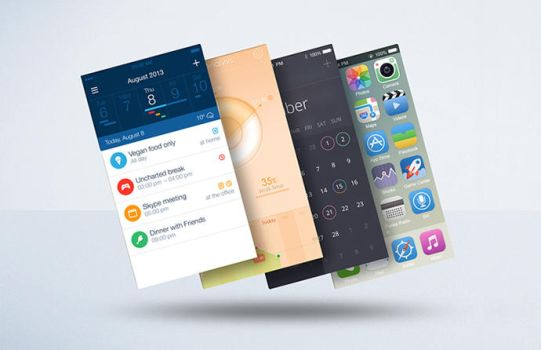 Float Mobile Display Mockup PSD Freebie by EAMejia