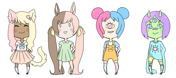 Two-tone Hair Adopts Mix [1/4 open] by Homopotamus