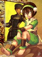 toph's reflection by SkyLine90