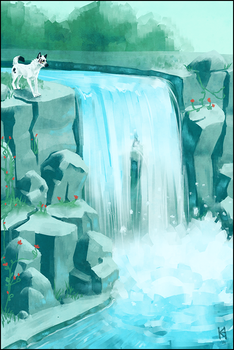 The waterfall by Fjodor