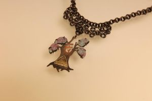 Fossilized Oregon Sequoia necklace by thecountess