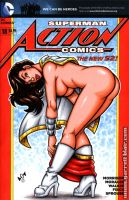 Mary Marvel naughty tease sketch cover by gb2k
