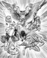 Space Ghost and the HB cosmic heroes by justbuzz